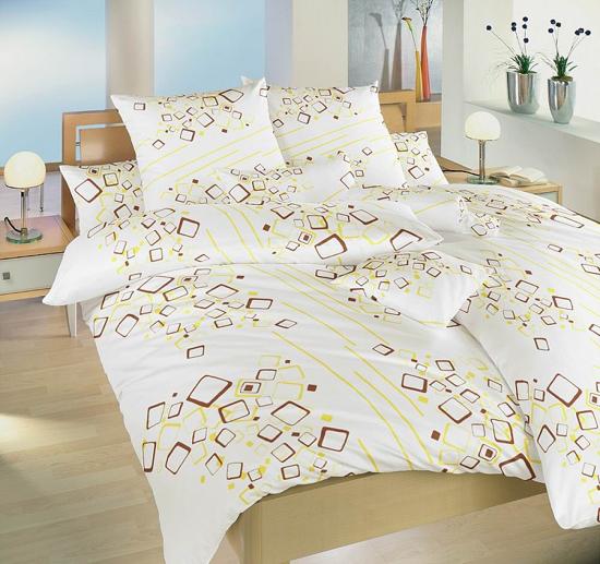 Obrázek z Povlečení bavlna Lavina žlutá 140x200 70x90