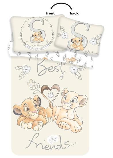Obrázek z Disney povlečení do postýlky Lví Král Best Friends baby 100x135, 40x60 cm