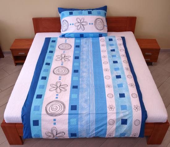 Obrázek z Povlečení bavlna Letokruhy modré 140x200, 70x90 cm