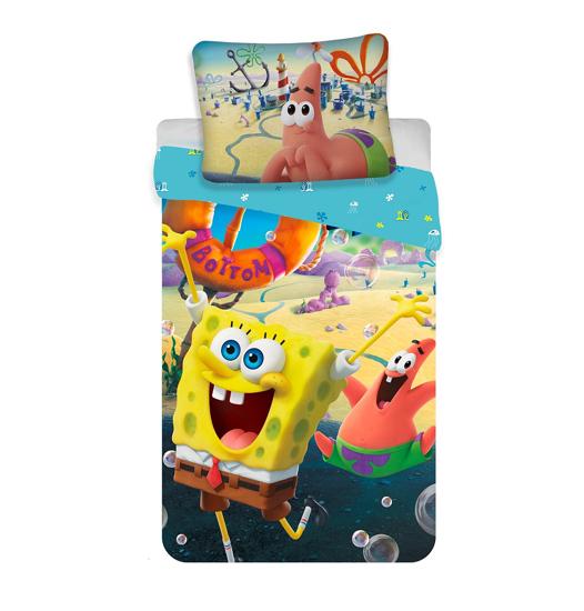 """Obrázek z Povlečení Sponge Bob """"Movie"""" 140x200, 70x90 cm"""