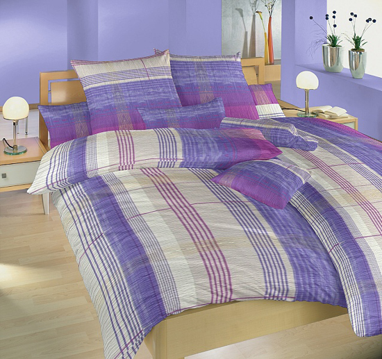 Obrázek z Povlečení krep Amadeus fialový 140x200, 70x90 cm
