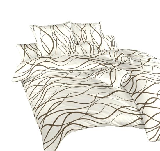 Obrázek z Povlečení satén Vlny hnědé 40x40 cm povlak