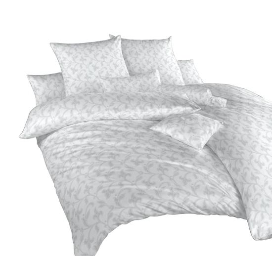 Obrázek z Povlečení damašek Rokoko šedé 240x200, 2x70x90 cm