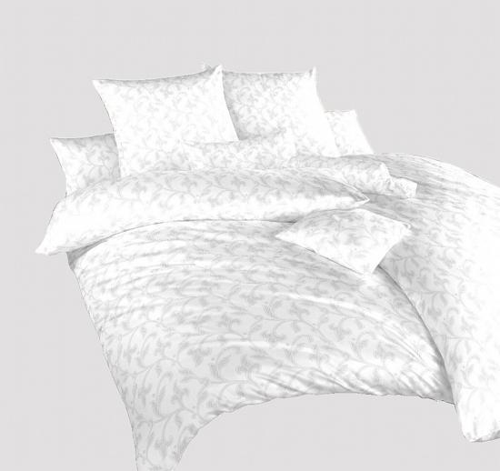Obrázek z Povlečení damašek Rokoko bílé 240x200, 2x70x90 cm
