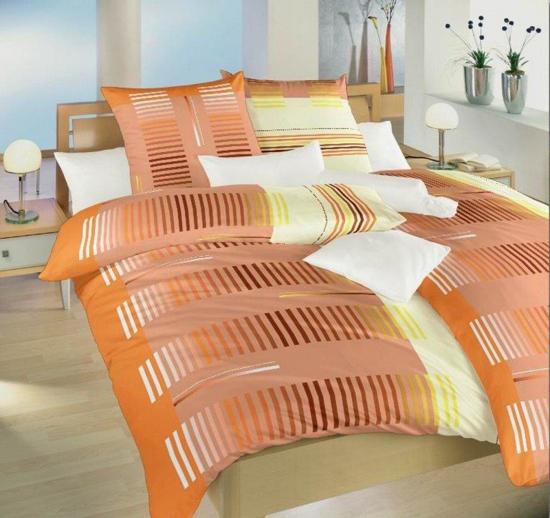 Obrázek z Povlečení bavlna Čárový kód oranžový 140x200, 70x90 cm II.jakost