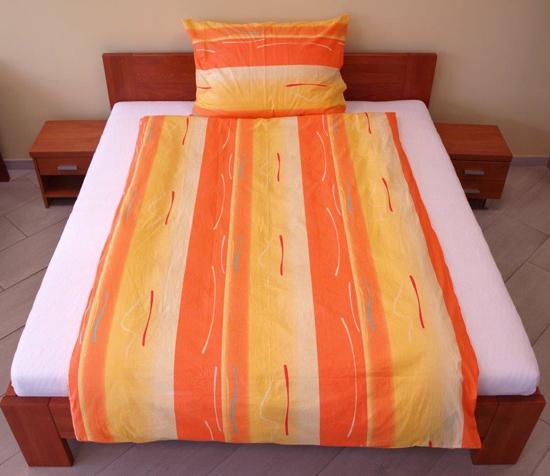Obrázek z Povlečení bavlna Toffifee oranžové 140x200, 70x90 cm II.jakost