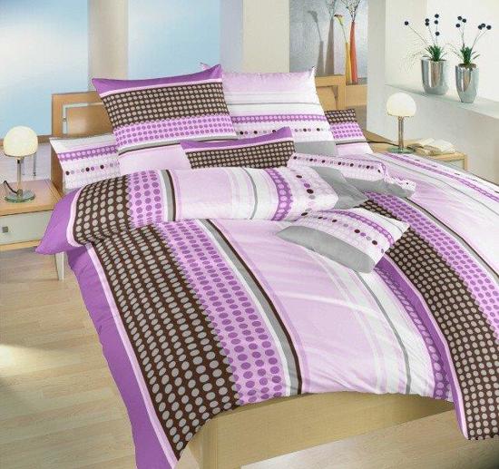 Obrázek z Povlečení bavlna Pralinky fialové 140x200, 70x90 cm II.jakost