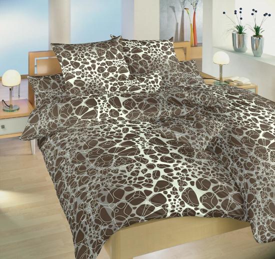 Obrázek z Povlečení bavlna Káva hnědá 140x200, 70x90 cm II.jakost