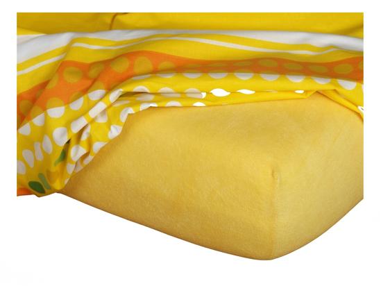 Obrázek z Froté prostěradlo 90x200x15 cm tmavě žluté II.jakost