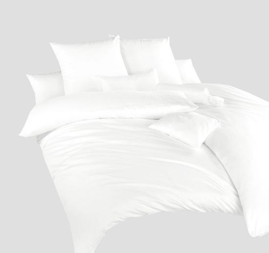 Obrázek z Povlečení satén Bílý 140x200, 70x90cm II.jakost