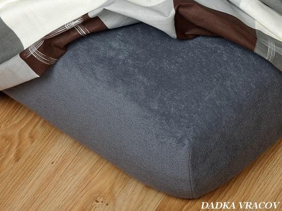 Obrázek z Froté prostěradlo 60x120x10 cm tmavě šedá  II.jakost