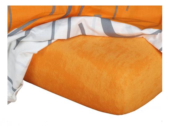 Obrázek z Froté prostěradlo 90x200x15 cm pomeranč II.jakost