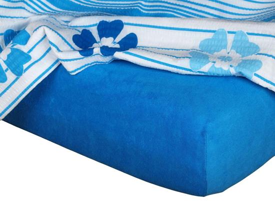 Obrázek z Froté prostěradlo 80x200x15 cm královská modř II.jakost