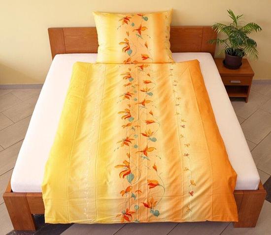 Obrázek z Povlečení bavlna Lilie oranžová 140x200, 70x90 cm II.jakost