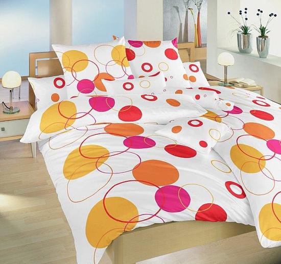 Obrázek z Povlečení bavlna Planety oranžové 140x200, 70x90 cm II.jakost