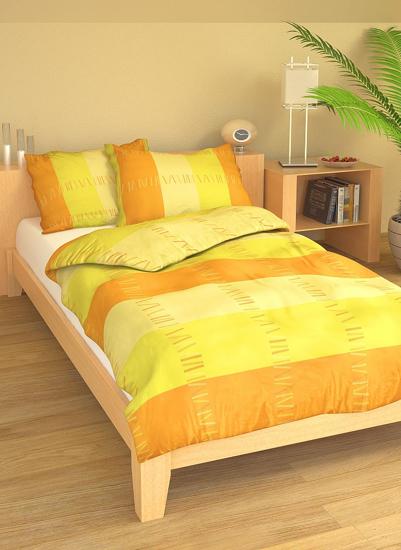 Obrázek z Povlečení bavlna Sunset žlutý 140x200, 70x90 cm II.jakost