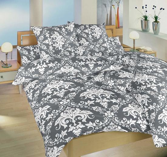 Obrázek z Krepové povlečení Tapeta šedá 140x200, 70x90 cm II.jakost