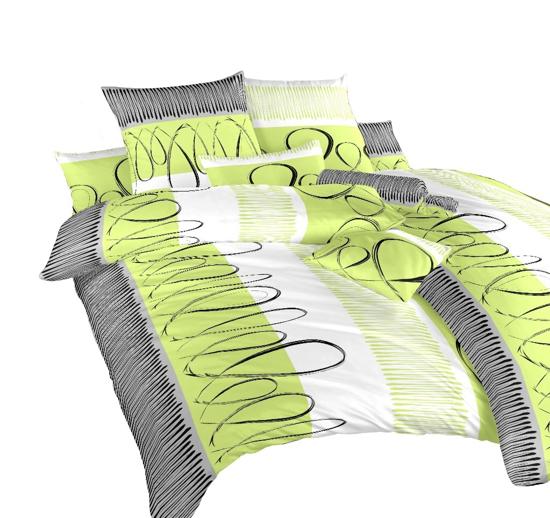 Obrázek z Povlečení bavlna Evelína kiwi 140x200, 70x90 cm II.jakost