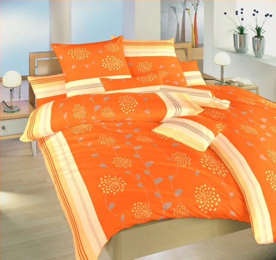 Obrázek z Krepové povlečení Liána oranžová 140x200, 70x90 cm II.jakost