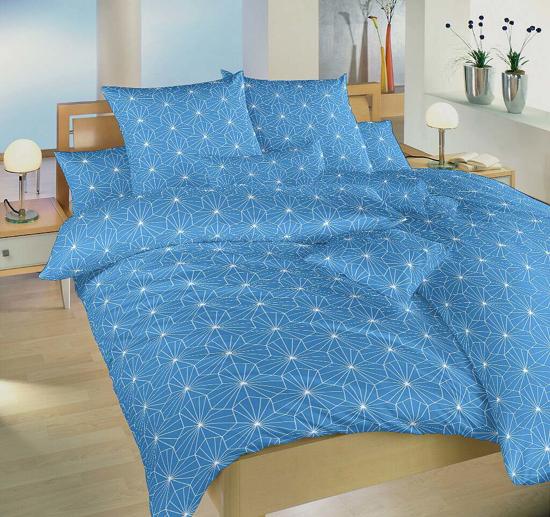Obrázek z Krepové povlečení Krystal modrý 140x200, 70x90 cm II.jakost