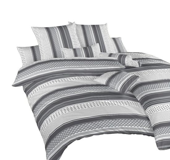 Obrázek z Povlečení bavlna Erik šedý 140x200, 70x90 cm