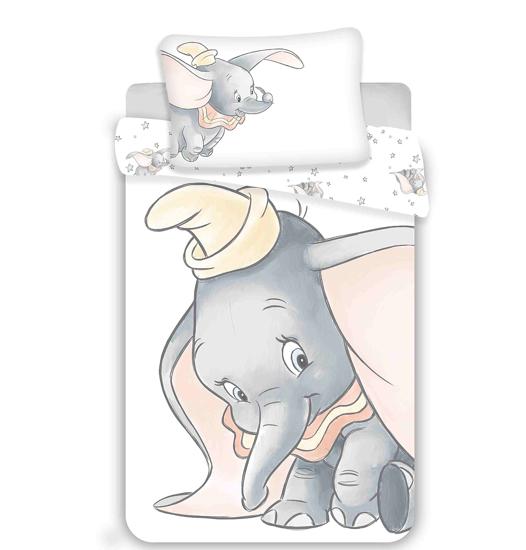 Obrázek z Disney povlečení do postýlky Dumbo grey 100x135, 40x60 cm