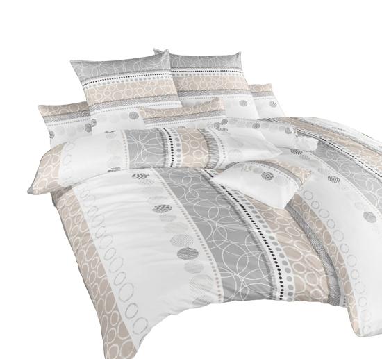 Obrázek z Povlečení bavlna Ateliér béžový 220x220 cm povlak