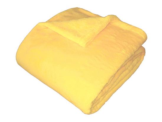 Obrázek z Super soft deka Dadka světle žlutá 150x100 cm