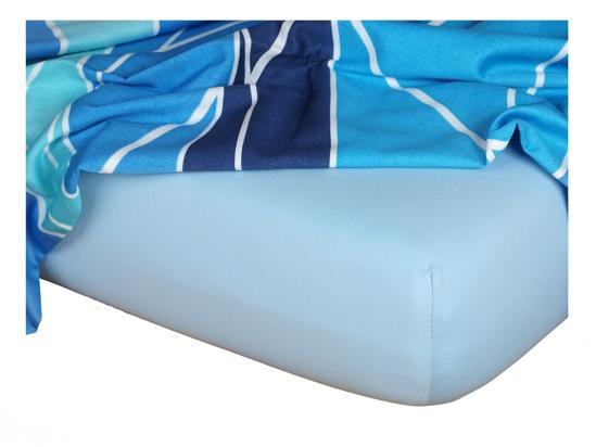Obrázek z Jersey prostěradlo světle modré 180x200x18 cm II.jakost