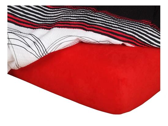 Obrázek z Jersey prostěradlo červené 140x200x18 cm II.jakost