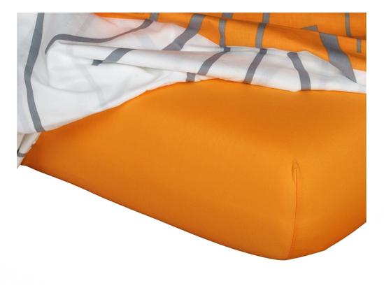 Obrázek z Jersey prostěradlo pomeranč 90x200x18 cm II.jakost