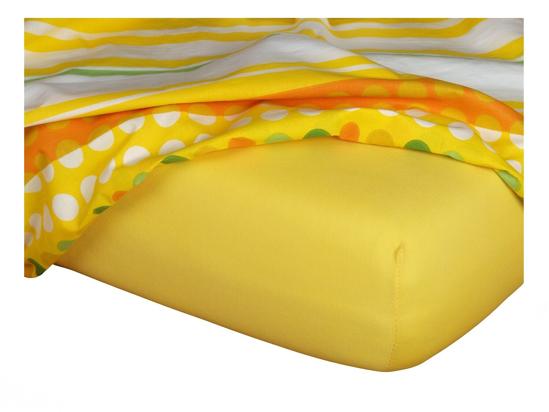 Obrázek z Jersey prostěradlo 60x120x10 cm II.jakost tmavě žluté