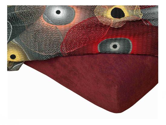 Obrázek z Froté prostěradlo 180x200x15 cm bordó II.jakost