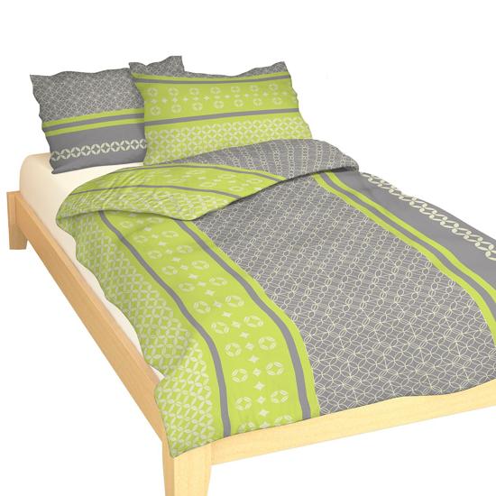 Obrázek z Povlečení bavlna Ingrid zelená 140x200, 70x90 cm II.jakost