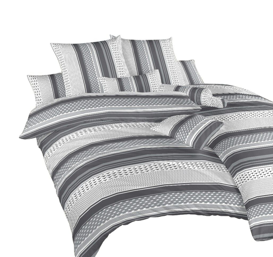 Obrázek z Povlečení bavlna Erik šedý 140x200, 70x90 cm II.jakost