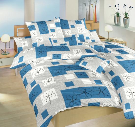 Obrázek z Povlečení bavlna Gobelín modrý 140x200, 70x90 cm II.jakost