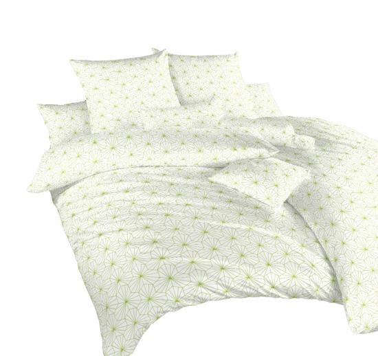 Obrázek z Povlečení bavlna Krystal kiwi na bílém 140x200, 70x90 cm II.jakost