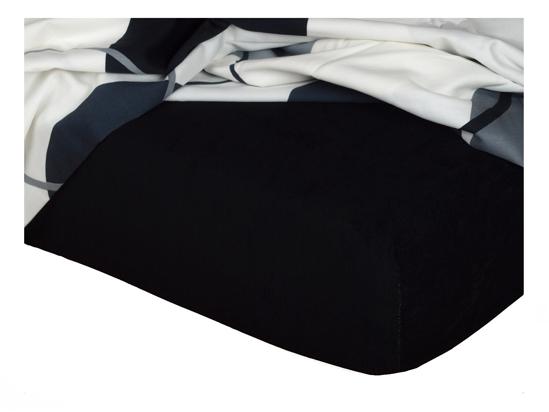 Obrázek z Froté prostěradlo 90x200x20 cm černé II.jakost