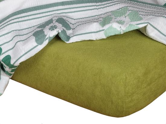 Obrázek z Froté prostěradlo 180x220x15 oliva II.jakost