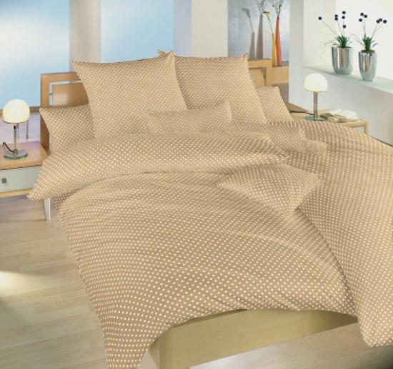 Obrázek z Povlečení bavlna Puntík bílý na béžovém