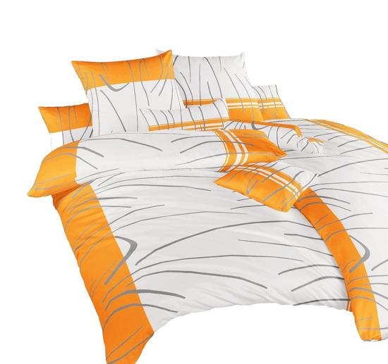 Obrázek z Povlečení bavlna Tenerife oranžové 240x200, 2x70x90 cm