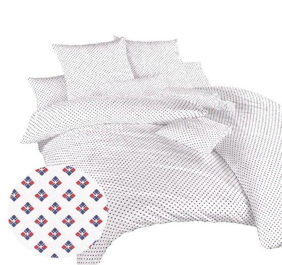 Obrázek z Povlečení bavlna Carré červené 140x200, 70x90 cm
