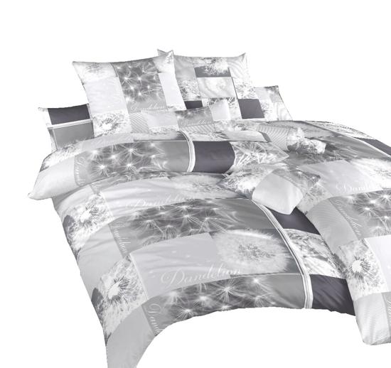Obrázek z Povlečení bavlna Pampelišky 3D šedé 220x200 cm povlak