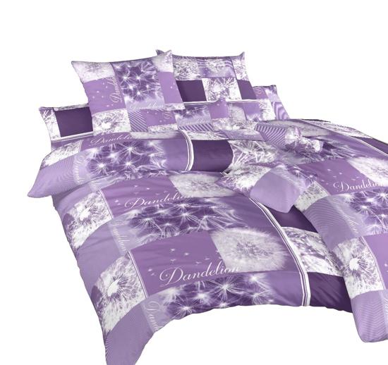 Obrázek z Povlečení bavlna Pampelišky 3D fialové 200x220 cm povlak