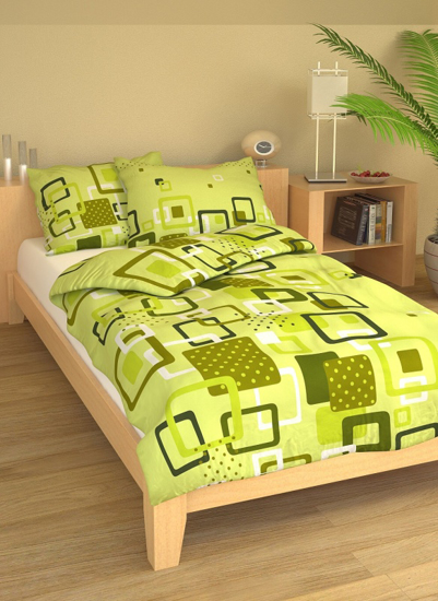 Obrázek z Povlečení bavlna Lékorky zelené 140x200, 70x90 cm