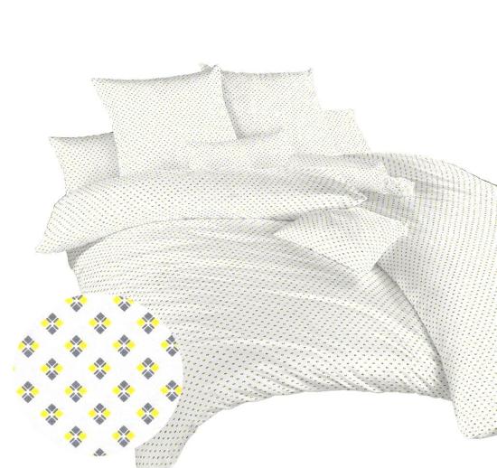 Obrázek z Povlečení bavlna Carré žluté 140x200, 70x90 cm