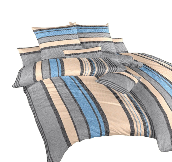 Obrázek z Povlečení krep Lino modré 140x200, 70x90 cm