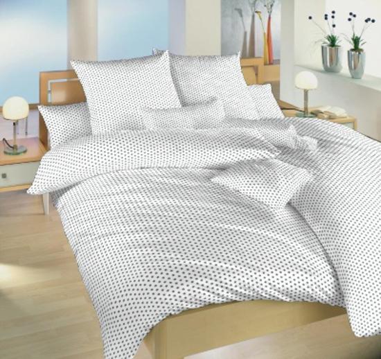 Obrázek z Povlečení bavlna Hvězdička šedá na bílém