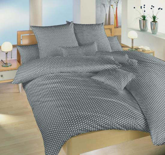 Obrázek z Povlečení bavlna Hvězdička bílá na šedém 40x40 cm povlak