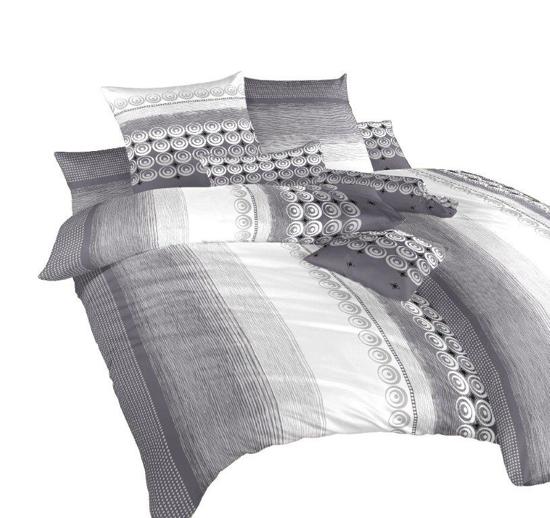 Obrázek z Povlečení krep Sahara šedá 240x200 cm povlak